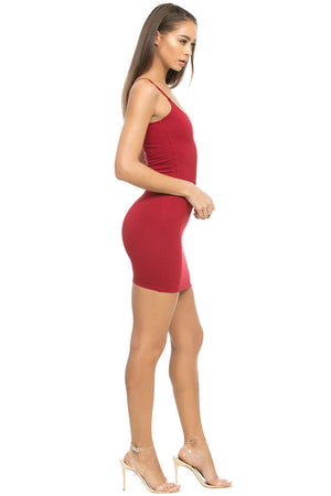 Wang Classic String Tank Dress - Deep Red