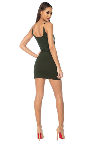 Wang Classic String Tank Dress - Green
