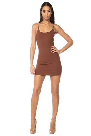 Wang Classic String Tank Dress - Brown