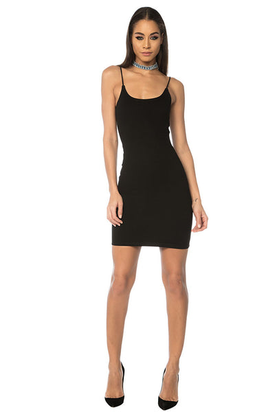 Wang Classic String Tank Dress - Black