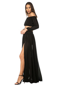Gitana Chiffon Two-Piece Black