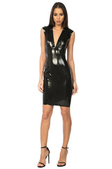 Arigato Latex Dress - Black