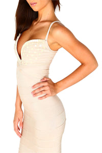 London Bandage Gown - Nude