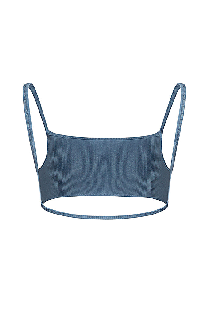 Sky Ribbed Tank - Powder Blue