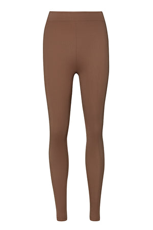 Curvas High Waisted Legging - Chocolate