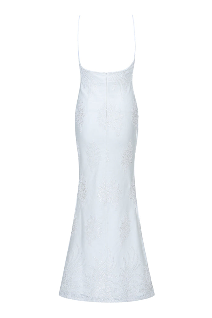 Agnes Bandage Mermaid Dress- White