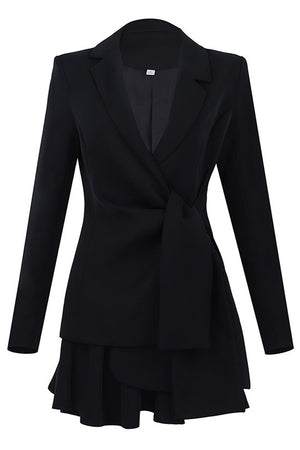 Arina Blazer 2 Piece Sets Suits -Black