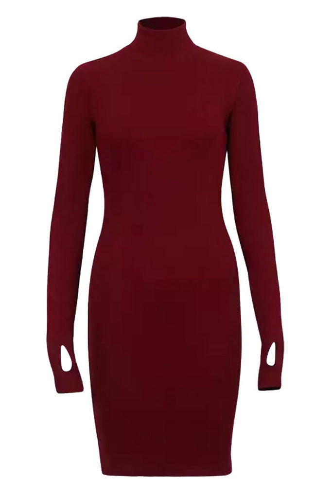 Sainted Body Dress - Plum