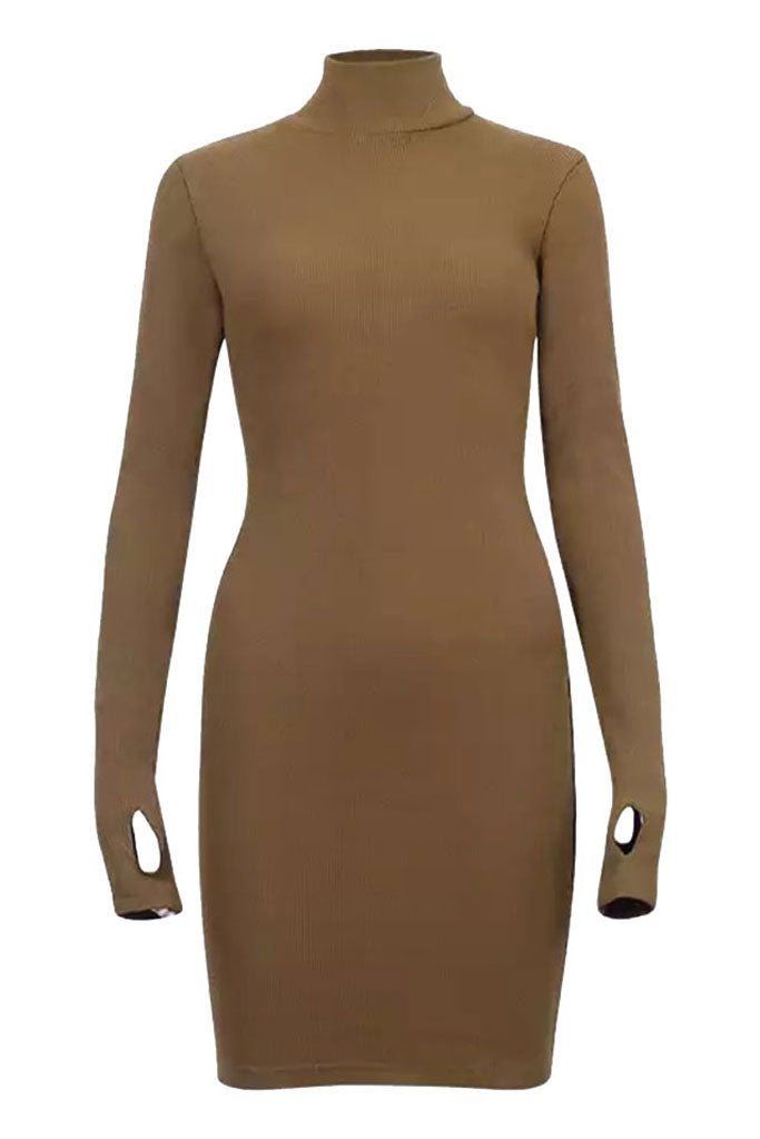 Sainted Body Dress - Taupe