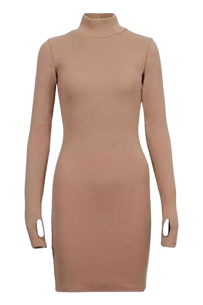 Sainted Body Dress - Sand