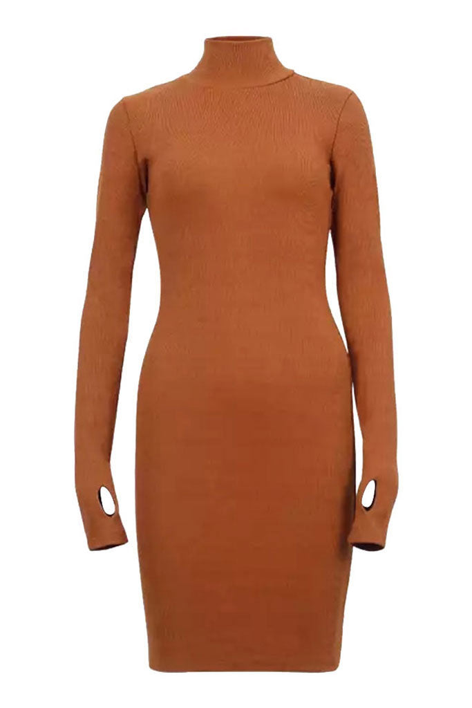 Sainted Body Dress - Burnt Orange