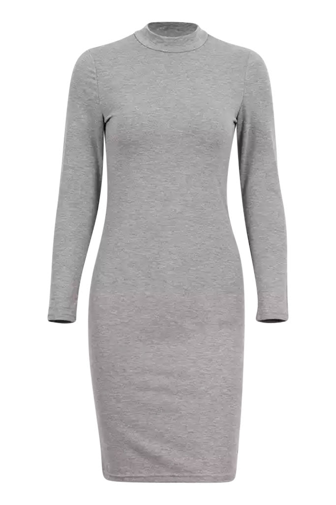 Baseball Tee Dress - Grey