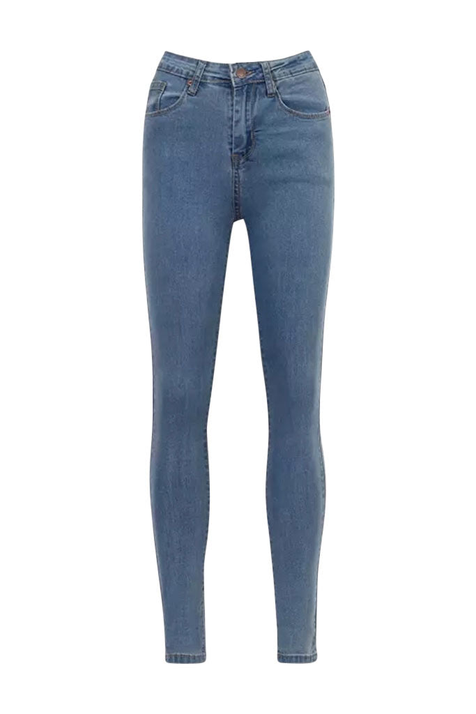 Jaxis High-Waist Denim Jean - Med Wash