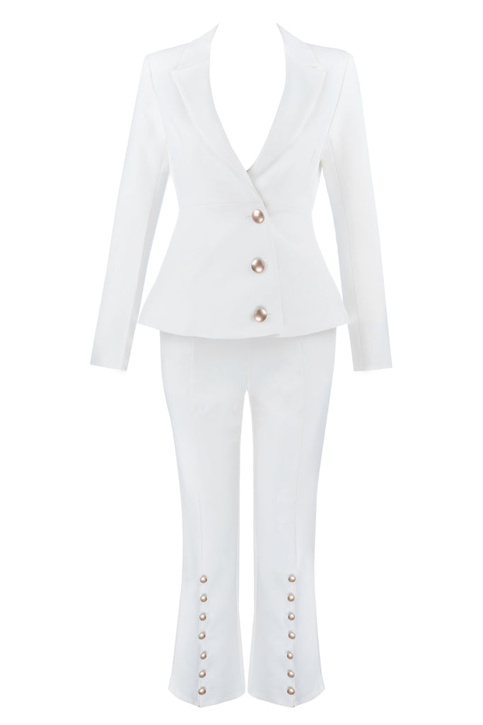 Laura 2 Pieces Suit -White