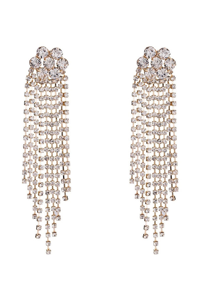 S44 Crystal Earring - Gold