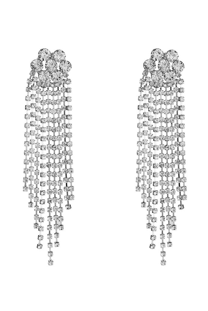 S43 Crystal Earring - Silver