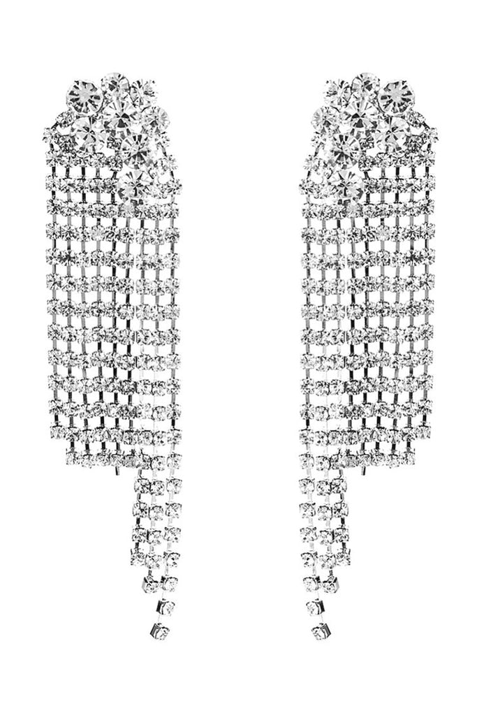 S51 Crystal Earring - Silver