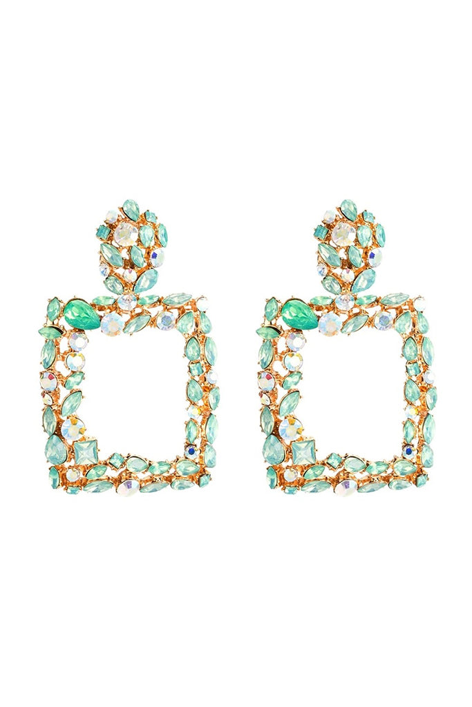 S60 Crystal Earring - Turquoise