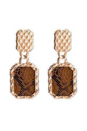S67  Python Earring - Brown