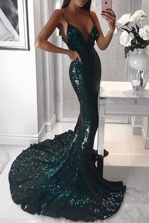 Jasmine Sequin Gown - Emerald