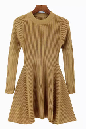 Knit A Line Dress - Rustic