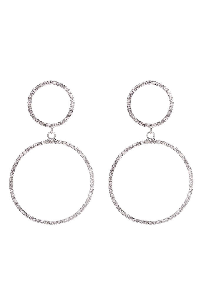 S41 Crystal Earring - Silver
