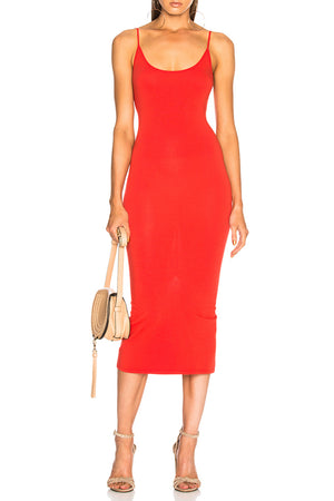 Wang Midi Dress - Red