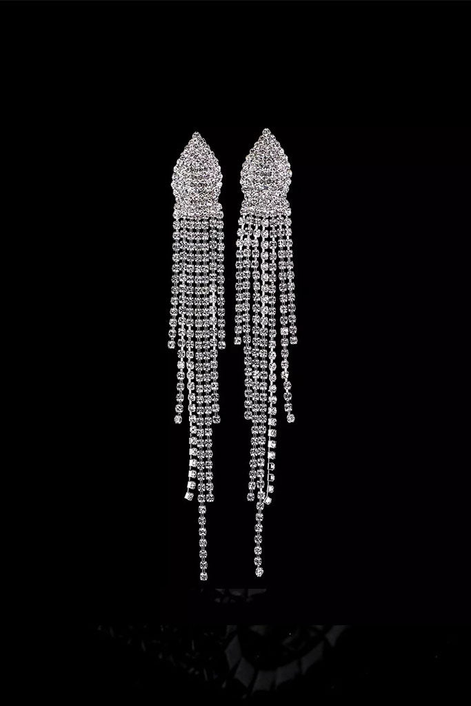 S42 Crystal Earring - Silver