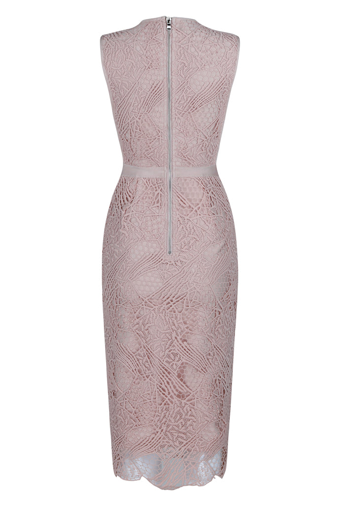 Kaylee Lace Mesh Bandage Dress