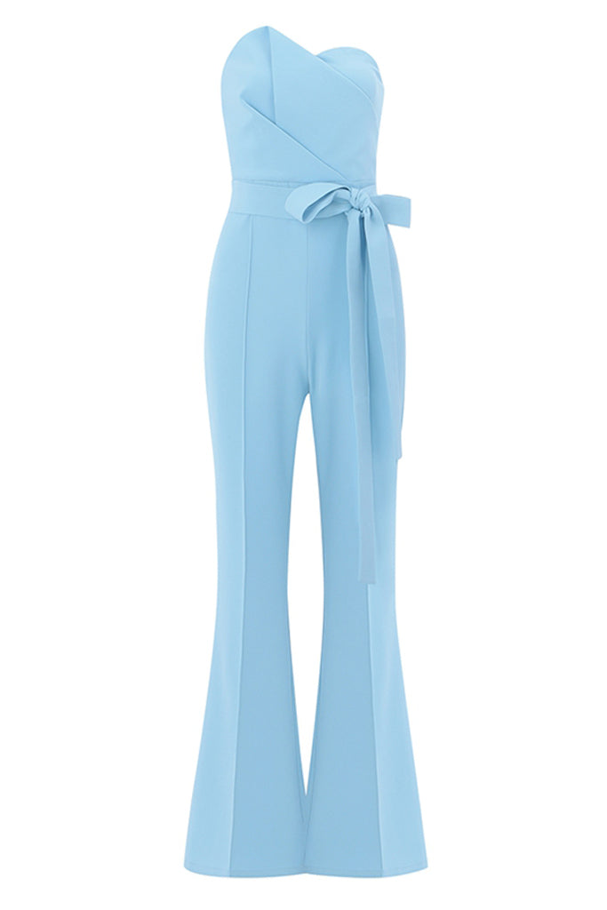 Baby Blue Strapless Jumpsuit