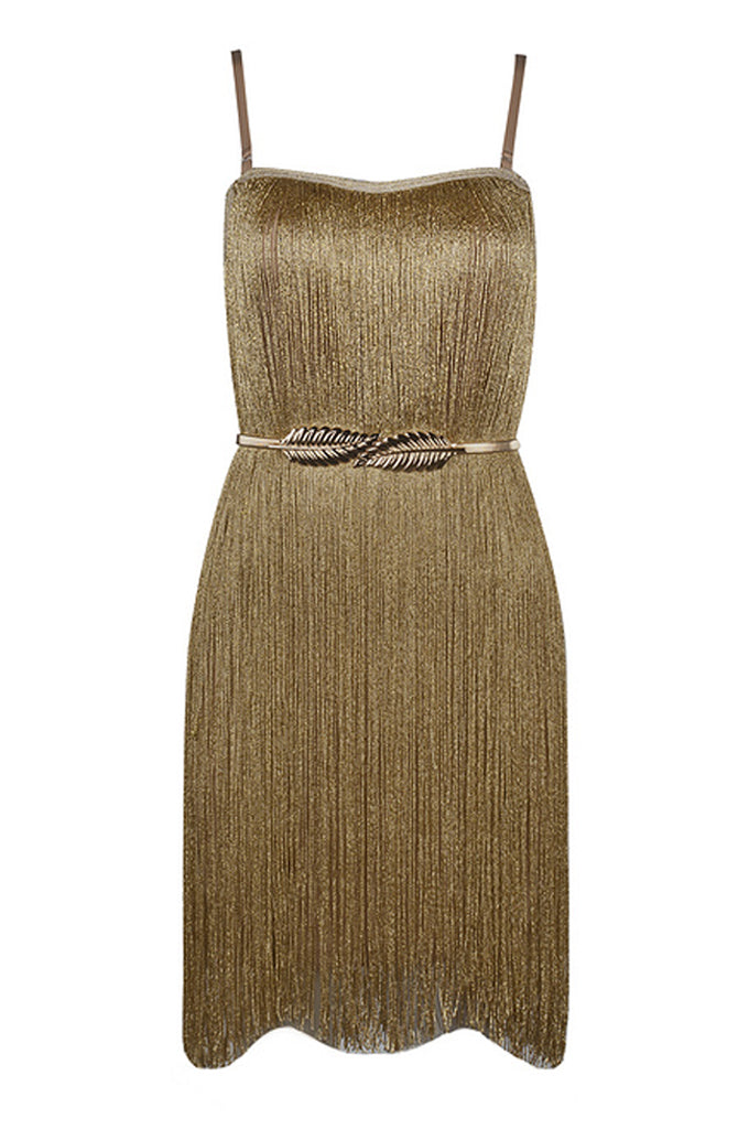 Balencia Fringe Bandage Dress