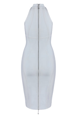 Olive Bandage Dress-White