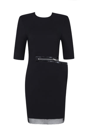 Edith Bodycon Chic Dress -Black