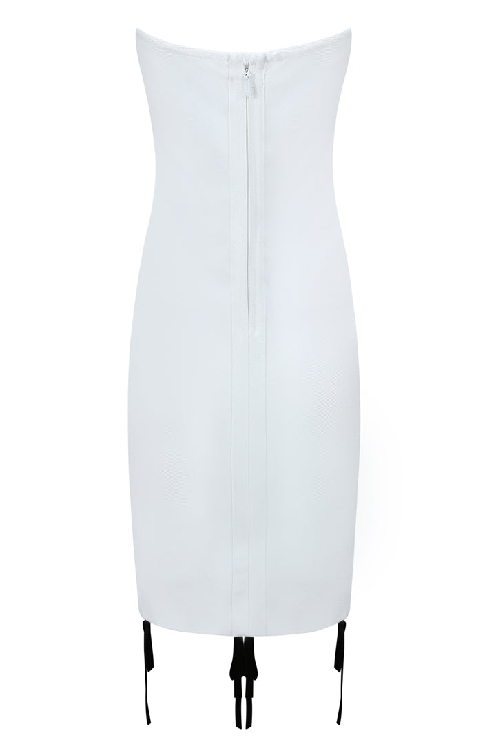 Iris Bandage Dress-White