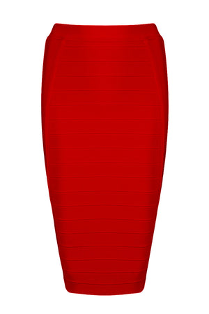 Kaylee Bandage Skirt-Red