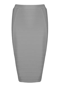 Kaylee Bandage Skirt-Gray