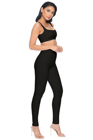 Park Ave High Waisted Legging - Black