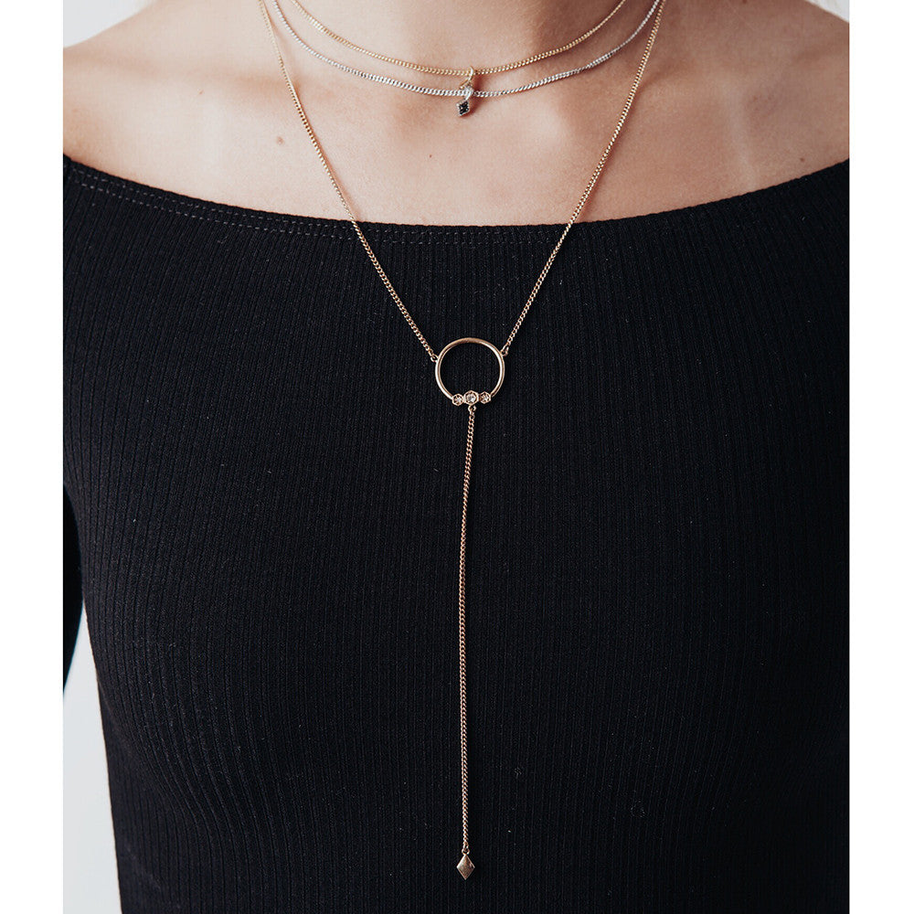 Full Bloom Lariat - Silver or Gold