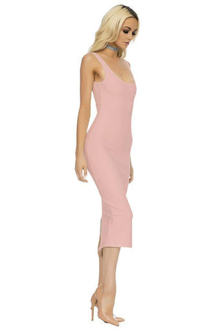 Classic Midi Dress - Blush