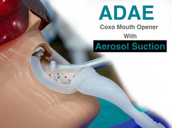 Coxo mouth opener with aerosol suction