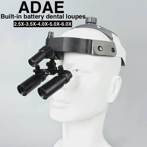 AD011 dental loupes with built in battery and LED - ADAE Dental Online Store