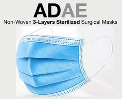 ADAE non-woven 3 layers sterilized surgical masks. - ADAE Dental Online Store
