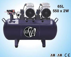 AD328 Silent air compressor (oil-free) 65L power:550W×2 - ADAE Dental Online Store