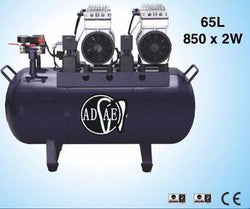 AD428 Silent air compressor (oil-free) 65L-Power: 850W×2 - ADAE Dental Online Store