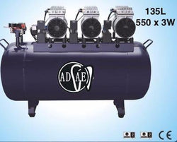 AD528 Silent air compressor (oil-free) 135L-Power: 550W×3 - ADAE Dental Online Store