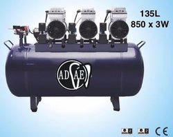 AD628 Silent air compressor (oil-free) 135L Power:850W×3 - ADAE Dental Online Store