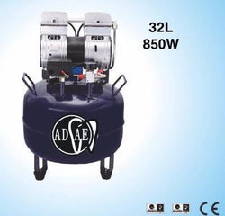 CE certified -AD228 Silent Air compressor (Oil-Free)-850W-32L - ADAE Dental Online Store