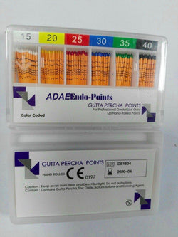 (Price for 20 packs)ADAE Gutta Percha Points  mm marks(0.02 Taper) - ADAE Dental Online Store