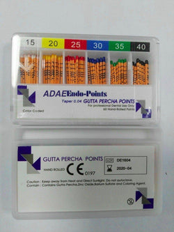 (Price for 20 packs)ADAE Gutta Percha Points  mm marks(0.04 or 0.06Taper) - ADAE Dental Online Store