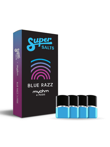 Super Salts x myohm - Blue Razz 4pk